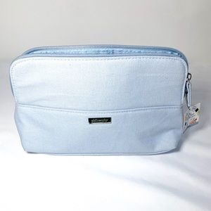 NWT, baby blue Philosophy brand makeup bag